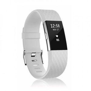 Fitbit Charge 2 Silicone Diamond (Large) remienok, White vyobraziť