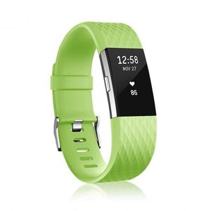 Fitbit Charge 2 Silicone Diamond (Large) remienok, Green vyobraziť