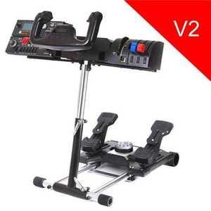 Wheel Stand Pro DELUXE V2, stojan na joystick a pedále Saitek Pro Rudder, Pro Flight Yoke System vyobraziť
