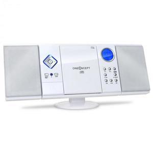 OneConcept V-12, biela, stereosystém s CD-MP3-prehrávačom, USB, SD, AUX vyobraziť