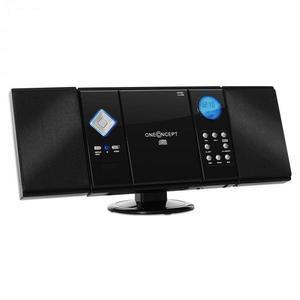 OneConcept V-12, stereo zariadenie, čierne, MP3, CD, USB, SD vyobraziť