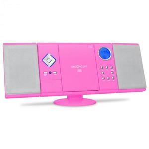 OneConcept V-12, stereo zariadenie, ružové vyobraziť