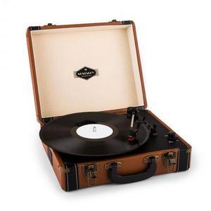 Auna Jerry Lee, retro gramofón, LP, USB, hnedý vyobraziť