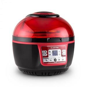 Klarstein VitAir Turbo, 1400 W, 9 l, teplovzdušná fritéza, grilovanie, pečenie, červeno-čierna vyobraziť