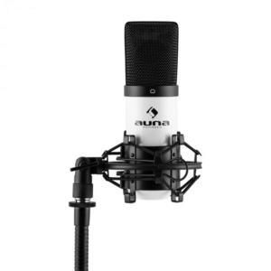 Auna MIC-900WH, biely, USB, kondenzátorový mikrofón, kardioidný, štúdiový vyobraziť