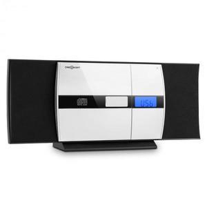 OneConcept V-15, čierny, stereo systém, CD, USB, MP3, FM, AUX, budík vyobraziť