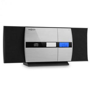 OneConcept V-15-BT, stereo systém, bluetooth, CD, USB, MP3, FM, AUX, budík, čierny vyobraziť
