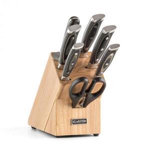 Klarstein Katana 8, sada nožov, 8-dielna, nožnice, ocieľka, nožový blok vyobraziť