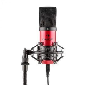 Auna MIC-900-RD, červený, USB, kondenzátorový mikrofón, kardioidný, štúdiový vyobraziť