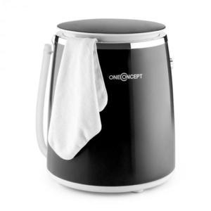 OneConcept Ecowash-Pico, čierna, mini práčka, funkcia žmýkania, 3, 5 kg, 380 W vyobraziť