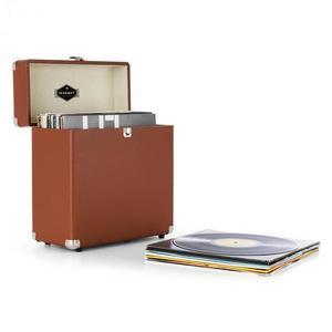 Auna TTS6, hnedý, kufor na platne, koža, nostalgický, 30 LP platní vyobraziť