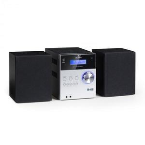 Auna MC-20 DAB micro stereo zariadenie, DAB+, bluetooth, diaľkové ovládanie, strieborná farba vyobraziť