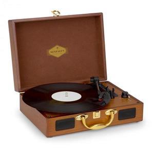 Auna Nostalgy by auna Peggy Sue retro gramofón platne USB AUX vzhľad dreva/zlatá vyobraziť