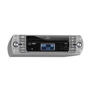 Auna KR-400 CD kuchynské rádio, DAB+/PLL FM rádio, CD/Mp3 prehrávač, strieborné vyobraziť