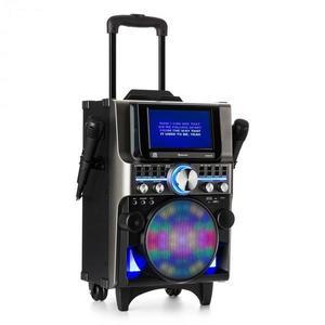 Auna DisGo Box 360, BT karaoke systém, 2 mikrofóny, HDMI, BT, LED, USB, kolieska, čierny vyobraziť