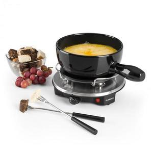 Klarstein Sirloin Raclette s fondue, keramický hrniec, 1200W, čierna farba vyobraziť