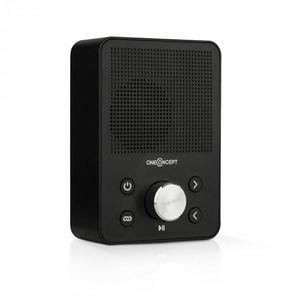 OneConcept Plug+Play FM, rádio do zásuvky, FM tuner, USB, BT, čierne vyobraziť