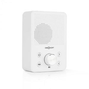 OneConcept Plug+Play FM, rádio do zásuvky, FM tuner, USB, BT, biele vyobraziť