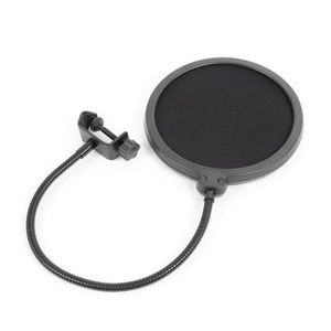 Vonyx M06 mikrofónový pop filter 6'' ochranná clona, flexibilný husí krk vyobraziť
