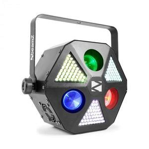Beamz MadMan, LED reflektor, 132 RGB SMD LED svetiel, DMX alebo samostatný režim vyobraziť