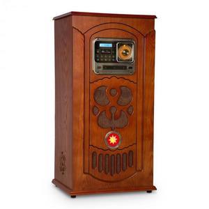Auna Musicbox, jukebox, gramofón, CD prehrávač, BT, USB, SD, FM tuner, drevo vyobraziť