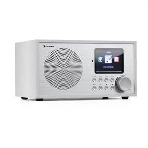 Auna Silver Star Mini, internetové DAB+/FM rádio, WiFi, BT, DAB+/FM, biele vyobraziť