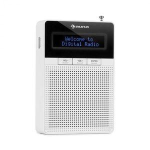 Auna DigiPlug DAB, rádio do zásuvky, DAB+, FM/PLL, BT, LCD displej, biele vyobraziť