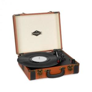 Auna Jerry Lee BT, gramofón, BT, USB, nahrávanie a prehrávanie, hnedý vyobraziť