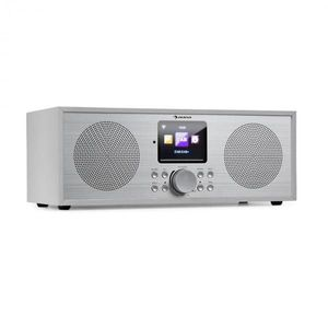 Auna Silver Star Stereo, internetové DAB+/FM rádio, WiFi, BT, DAB+/FM, biele vyobraziť