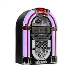 Auna Arizona, jukebox, BT, FM rádio, USB, SD, MP3, CD prehrávač, čierny vyobraziť