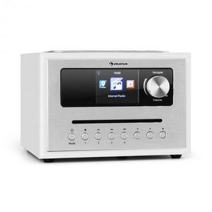 Auna Silver Star CD Cube, rádio, bluetooth, HCC displej, biele vyobraziť