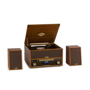 Auna Belle Epoque 1910, retro stereo systém, gramofón, CD prehrávač, reproduktory vyobraziť