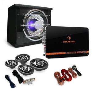 """Auna 4.1 Hifi set do auta """"Black Line 540"""", zosilňovač, reprodukty vyobraziť"""