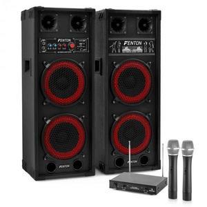 """Electronic-Star Karaoke set """"STAR-Köpenick"""" PA reproduktory, bezdrôtový mikrofón, 800W vyobraziť"""