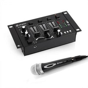 Electronic-Star Mini DJ Set, 1 x 3/2-kanálový mixážny pult + 1 x ručný mikrofón vyobraziť