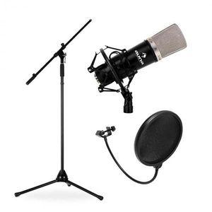 Auna Mikrofónový set, stojan, mikrofón a pop filter vyobraziť