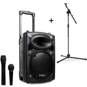 Ibiza Port8VHF-BT, mobilný PA reproduktor, bluetooth, USB, SD, 200 W, RMS, mikrofónový stojan vyobraziť