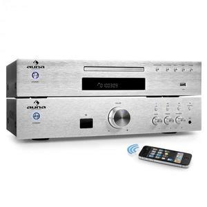 """Auna """"Elegance Tower Bluetooth"""", strieborná, 2.0 HiFi zostava, MP3-CD prehrávač + zosilňovač 600 W vyobraziť"""