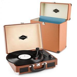 Auna Peggy Sue Record Collector, hnedá, gramofónová sada, retro gramofón + kufor na platne vyobraziť