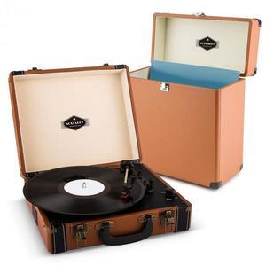 Auna Jerry Lee Record Collector Set brown | retro gramofón | kufrík na gramofónové platne vyobraziť