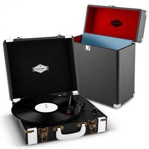 Auna Jerry Lee Record Collector Set black | retro gramofón | kufrík na gramofónové platne vyobraziť