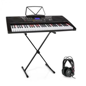 SCHUBERT Etude 225, USB keyboard so slúchadlami, stojan na keyboard vyobraziť