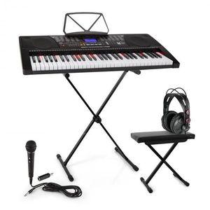 SCHUBERT Etude 225, USB keyboard so slúchadlami, stojan na keyboard, mikrofón a lavička vyobraziť