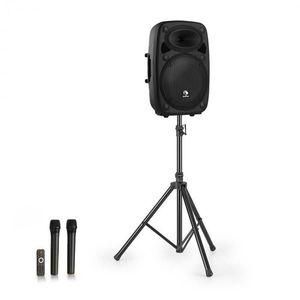 """Auna Streetstar 12, mobilný PA systém + statív, 12"""" woofer, UHF mikrofón, 800 W max., čierny vyobraziť"""