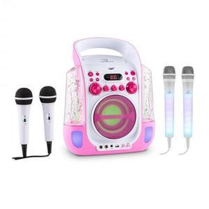 Auna Kara Liquida ružová farba + Dazzl mikrofónová sada, karaoke zariadenie, mikrofón, LED osvetlenie vyobraziť