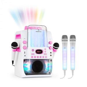 Auna Kara Liquida BT ružová farba + Dazzl mikrofónová sada, karaoke zariadenie, mikrofón, LED osvetlenie vyobraziť