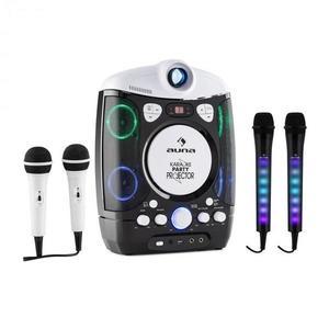 Auna Set: karaoke systém Kara Projectura, čierny + dva mikrofóny Kara Dazzl, LED podsvietenie vyobraziť