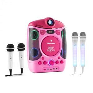 Auna Kara Projectura pink + Dazzl Mic Set karaoke zariadenie, mikrofón, LED osvetlenie vyobraziť
