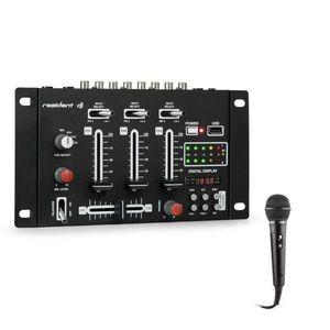 Resident DJ DJ-21 BT, mixážny pult, bluetooth, USB + mikrofón, čierny vyobraziť