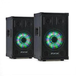 """Fenton TL8LED, sada zariadení, 2 x 3-pásmový pasívny reproduktor, RGB LED, 8"""" woofer, 400 W vyobraziť"""